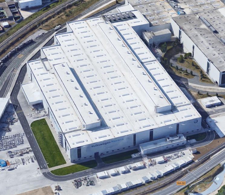 Imagen de la nueva nave de chapa de Volkswagen