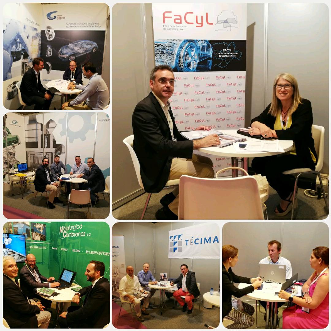 Cluster FACYL y sus socios presentes en Automotive Meetings Madrid