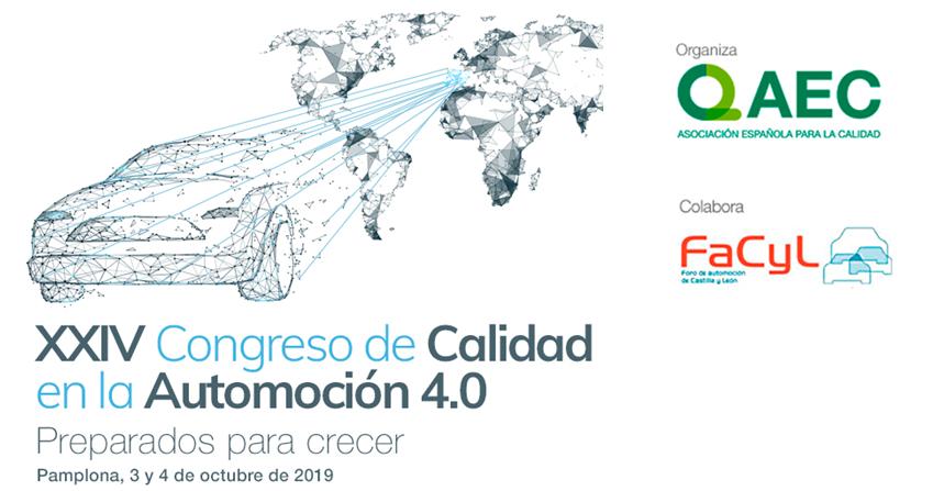 Cluster FACYL colabora con el XXIV Congreso de Calidad en la Automoción 4.0