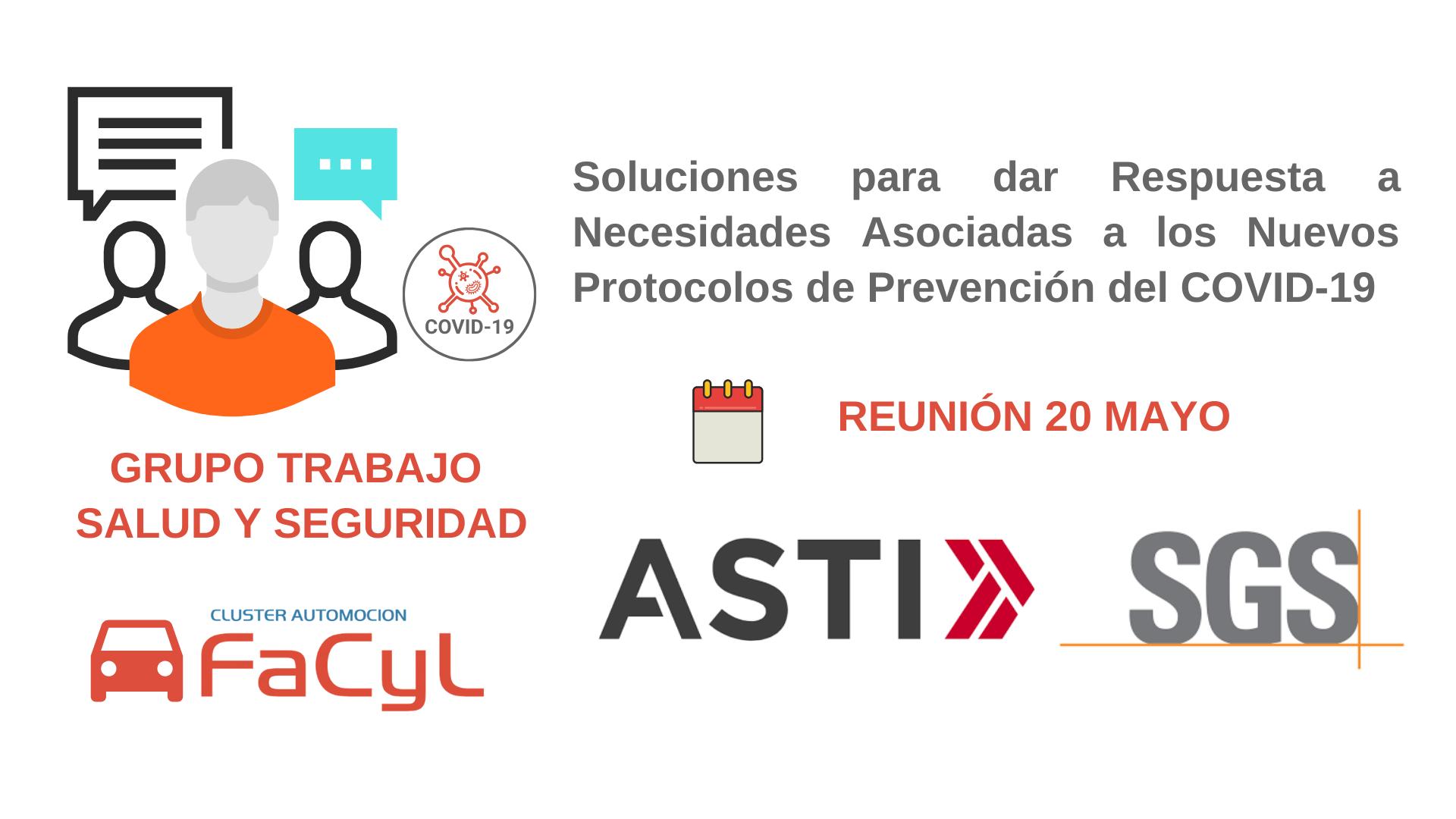 ASTI Mobile Robotics y SGS presentan Soluciones a los miembros del Grupo de Trabajo de Salud y Seguridad en el Trabajo COVID-19 de Cluster FACYL