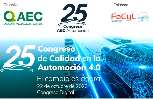 Cluster FACYL colabora con el 25º Congreso de Calidad en la Automoción 4.0