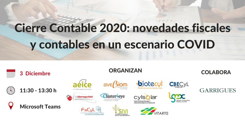 Sesión «Cierre Contable 2020: novedades fiscales y contables en un escenario COVID»