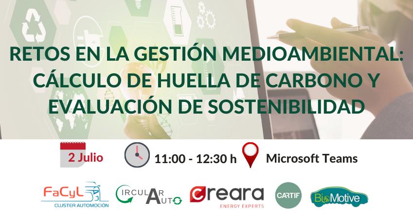 Sesión Retos en la Gestión Medioambiental: Cálculo de Huella de Carbono y Evaluación de Sostenibilidad