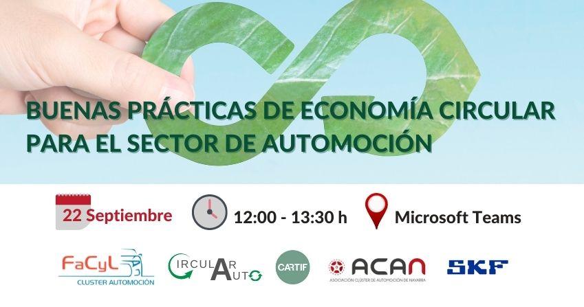 Sesión Buenas Prácticas de Economía Circular para el Sector de Automoción