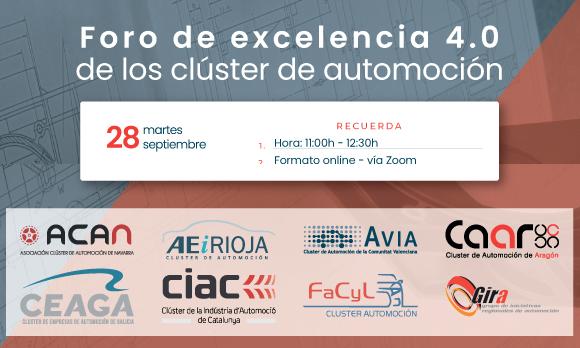 Jornada I Foro de Excelencia 4.0 de los Clusters de Automoción