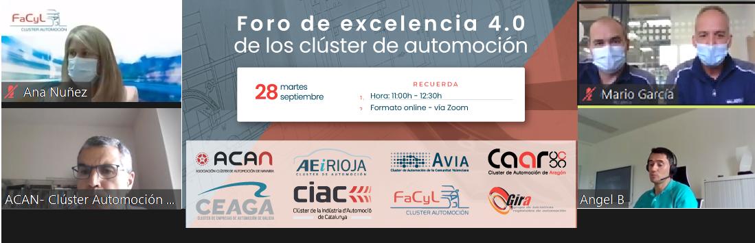 """FACYL participa con otros 7 cluster de automoción en el proyecto """"Foro de Excelencia 4.0"""""""