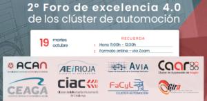 Jornada II Foro de Excelencia 4.0 de los Clusters de Automoción